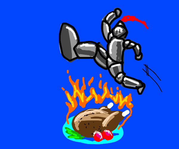 Knight jumping over Hot Dish