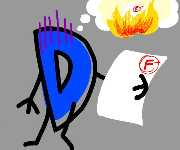 Drawseption D hiding his F grade