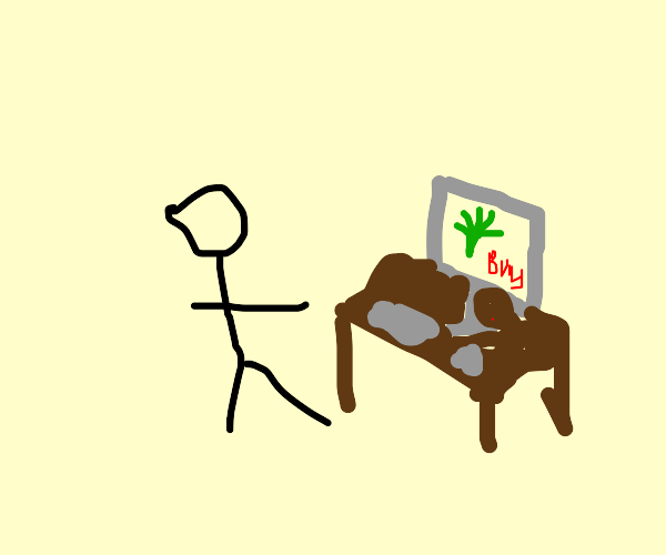 using a computer to buy weed