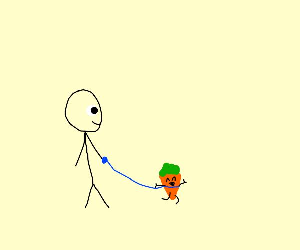 pet carrot