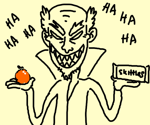 Tangerine-flavored Sour Skittle anime villain