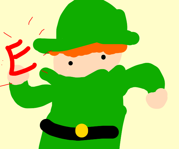 It's a leprechaun from Ireland - with an E