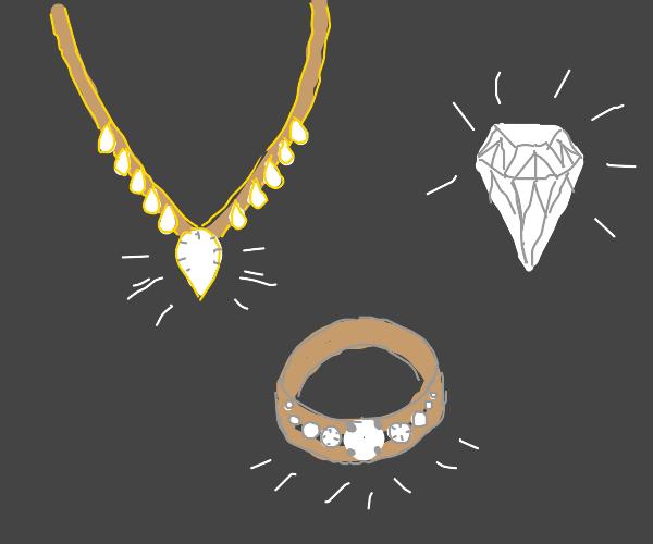 bunch o' diamonds