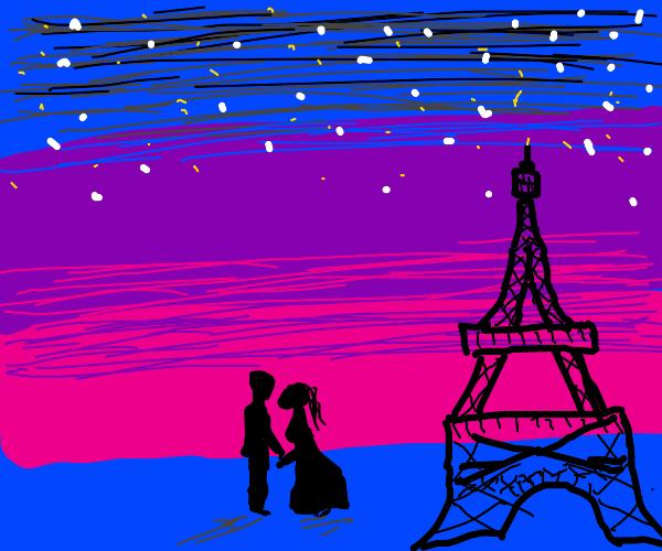 The most romantic Parisian night