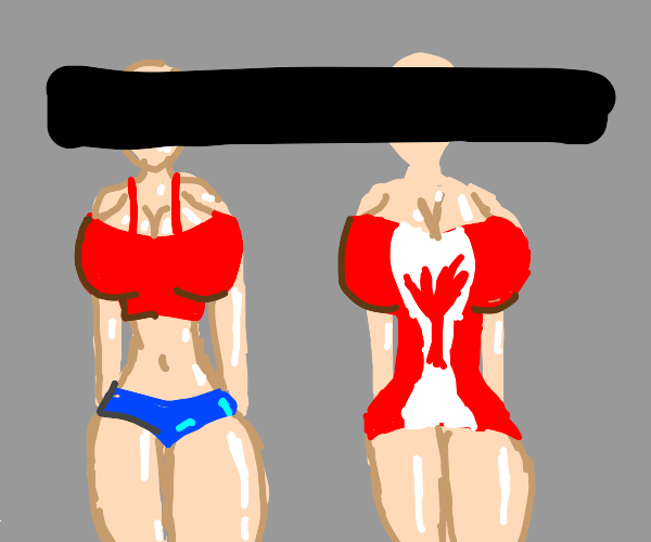 American woman and Canadian woman, censored.