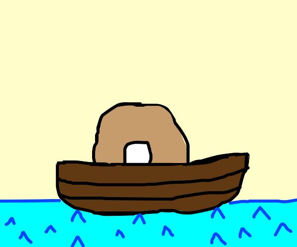 Bagel in a boat