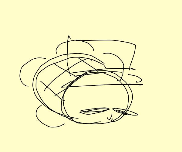 Turtle is feeling refined in top hat