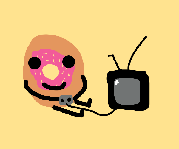 Donut playing games