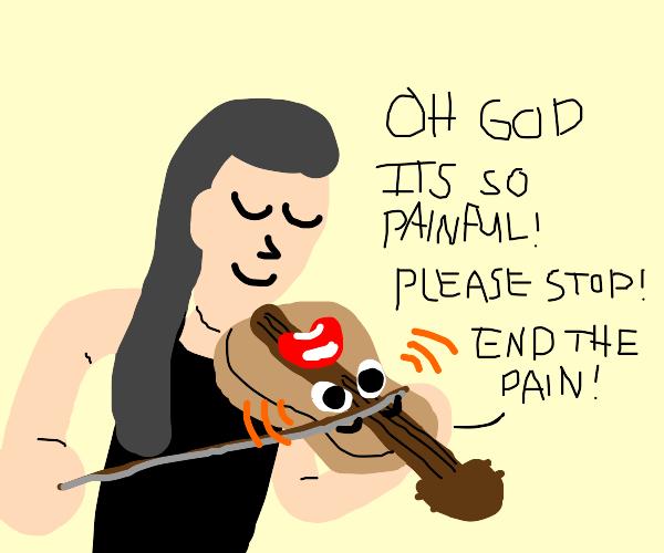 violin but it's alive