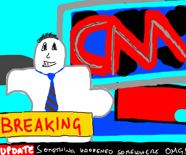 puzzle piece man delivers breaking news
