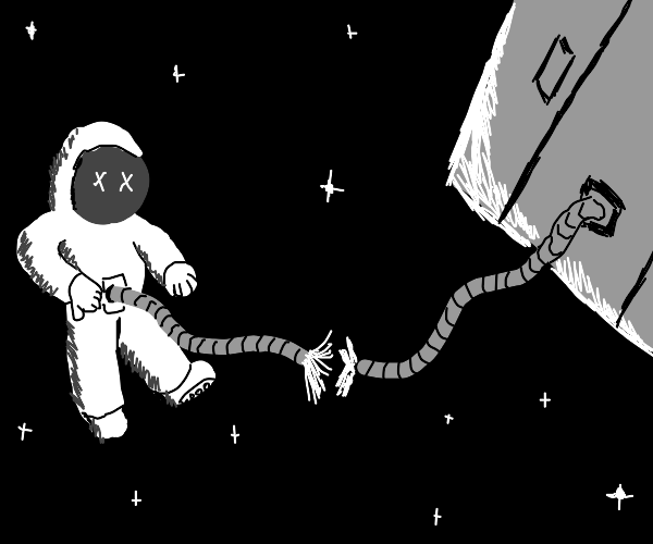 Person dies in space