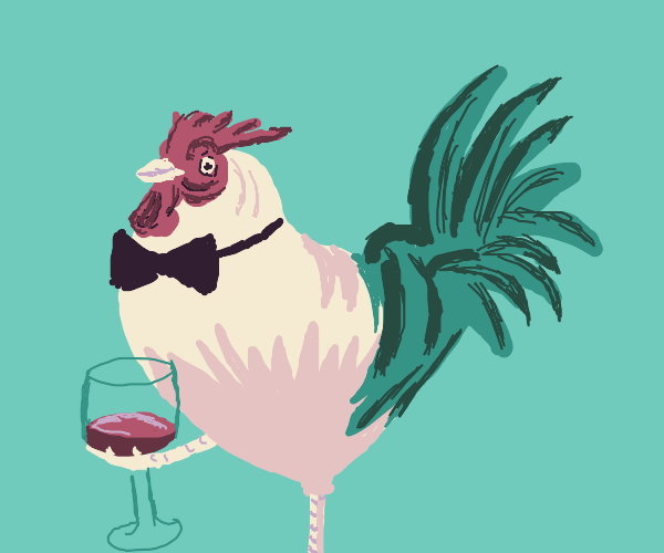 Distinguished chicken gentleman