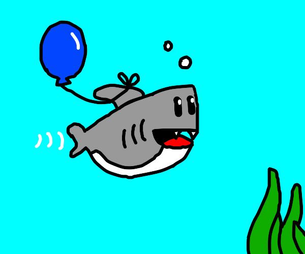 baby Shark with a balloon