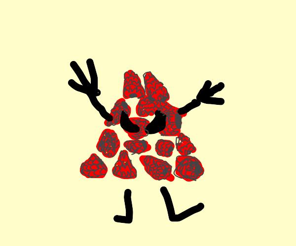 Pile of Raspberries grow arms.