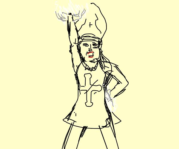 priest cheerleader