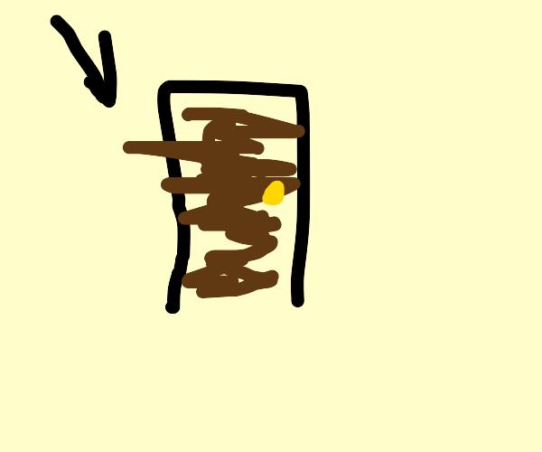 A brown door