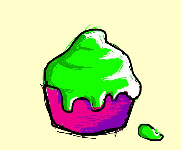 slime cupcakes