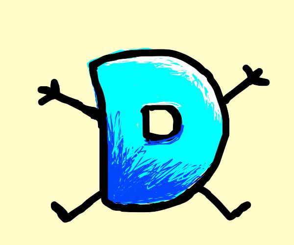 just a blue D