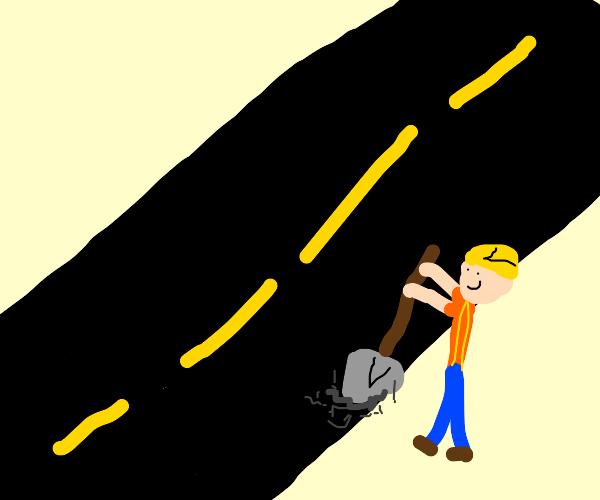 Designer digging into the Highway