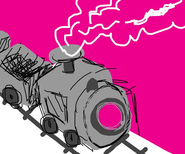 A choo choo train going down a trck