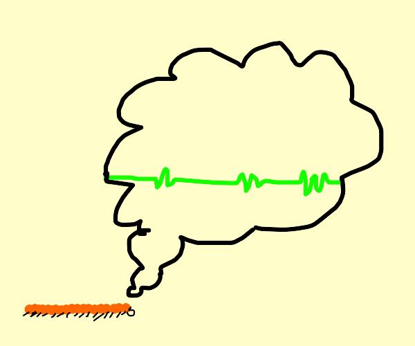 A centipede thinking about an EKG