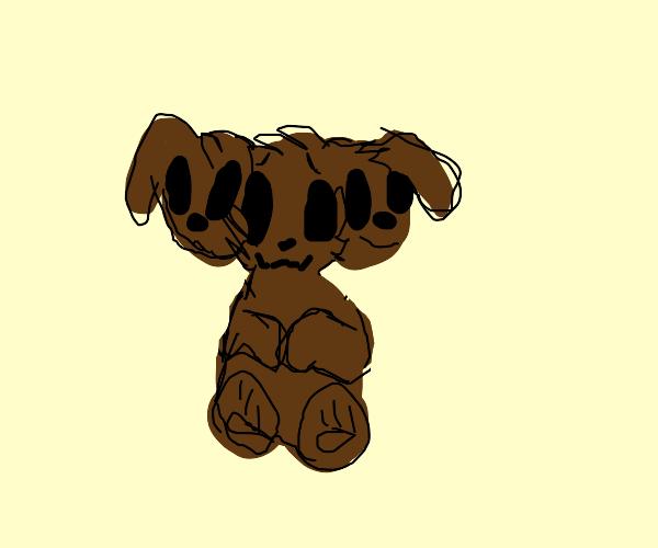 cute three-headed puppy