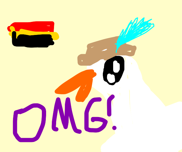 German goose OMG'ing in German Color