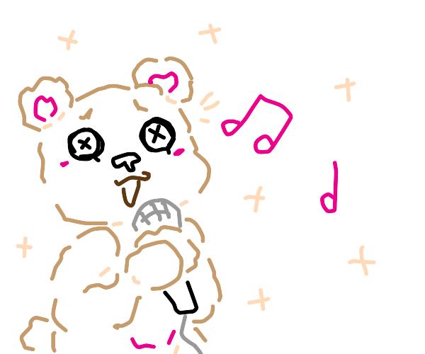 teddy bear karaoke