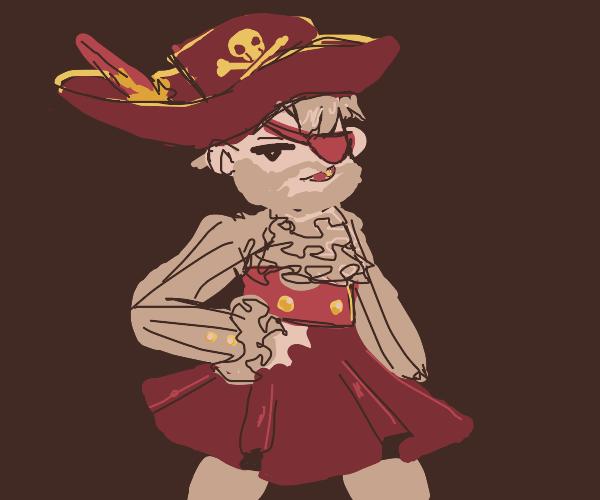 Crossdressing captain