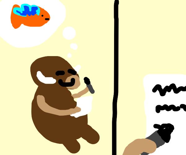 Boar writing to Flyingfish