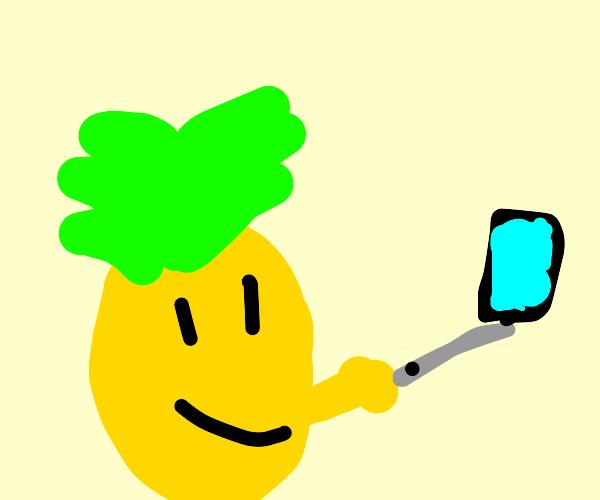 A Pineapple taking a selfie
