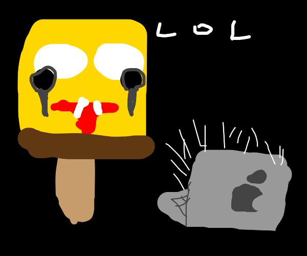 A spongebob popsicle watching youtube