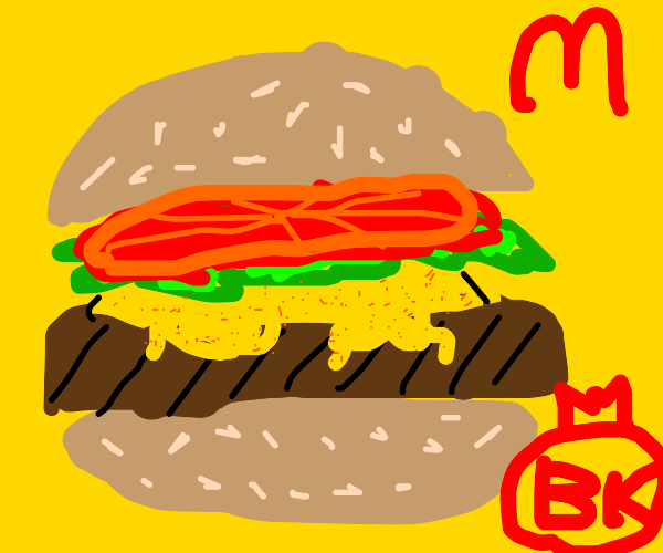 hamburger cheeseburger big mac whopper