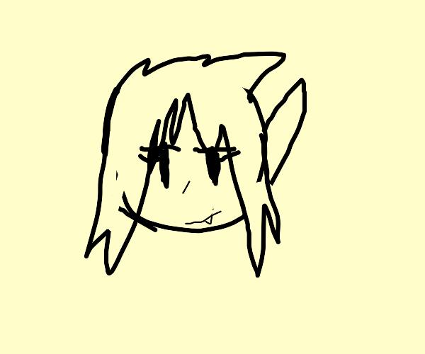 Demi-demon's face