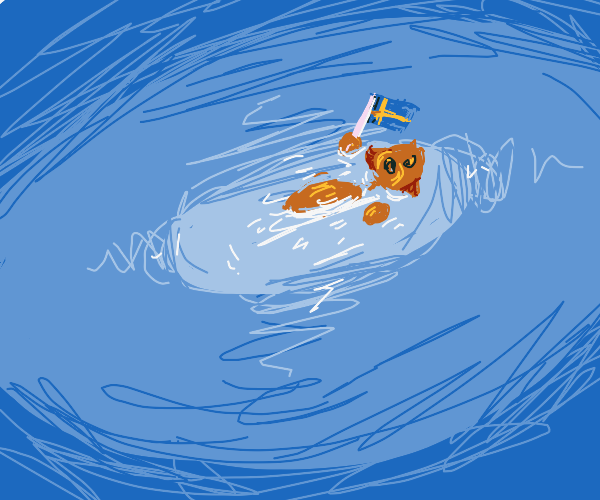 Otter with Sweden