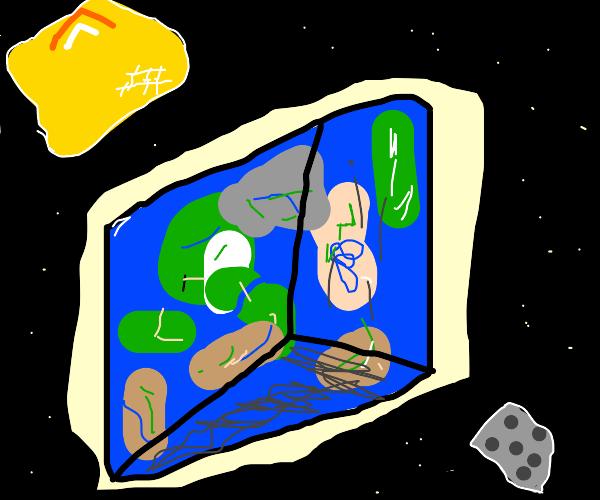 a minecraft world
