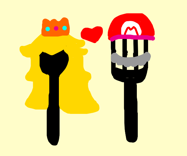 female spon loves male fork