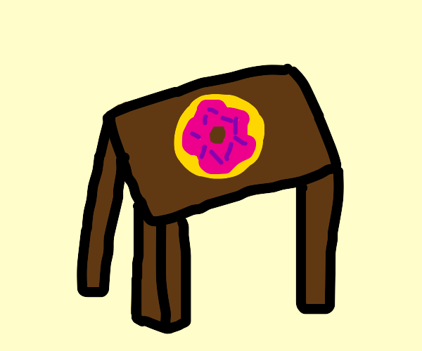 Donut on table