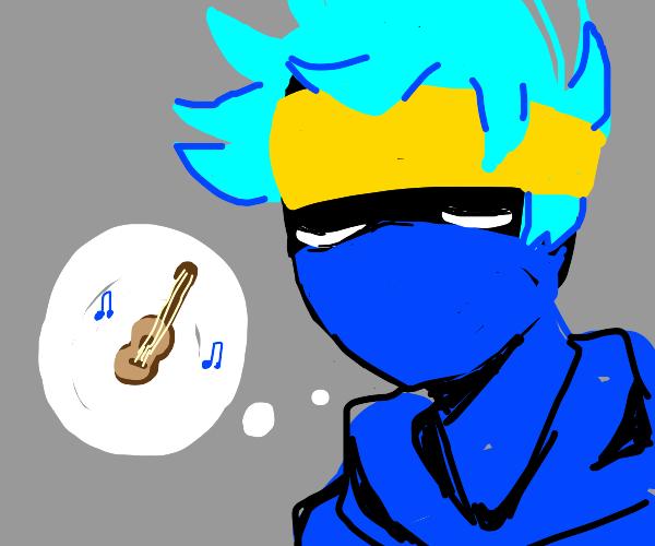 fortnite ninja blevins thinks of a guitar