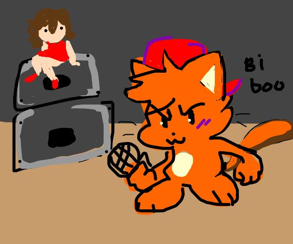 Deformed cat plays fnf