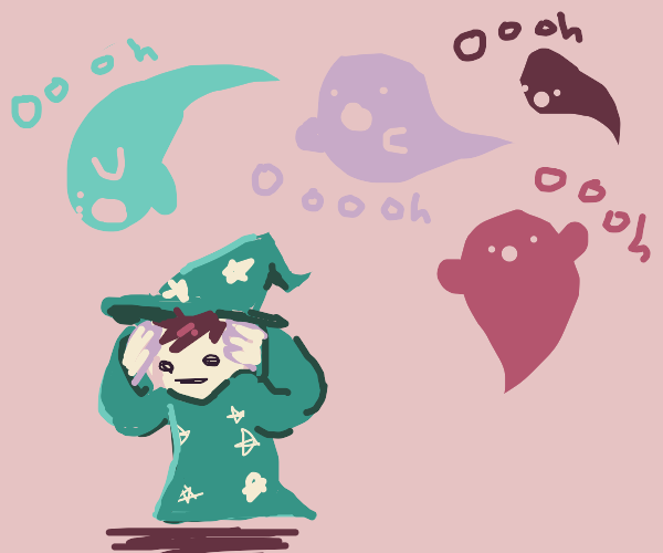 Ghosts dont leave wizard alone