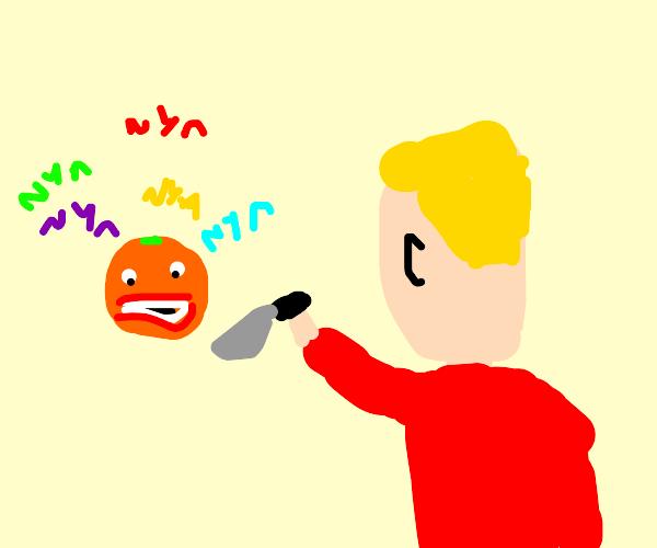 annoying orange nyas at blonde dude