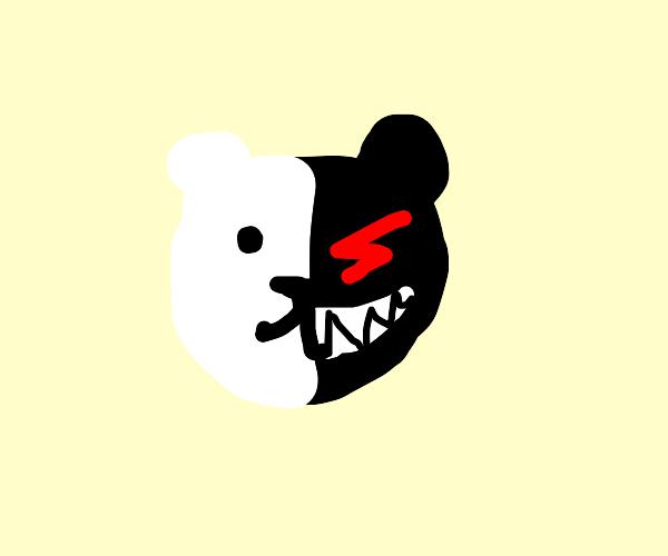 Teddy bear is happy