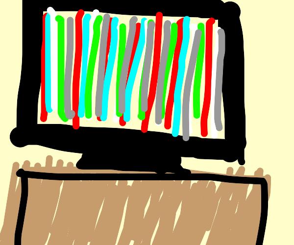 Colored TV Error Screen