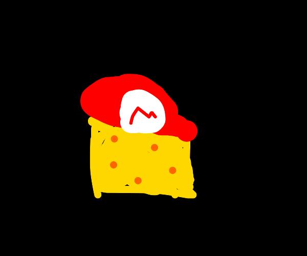 Mario turns into cheese