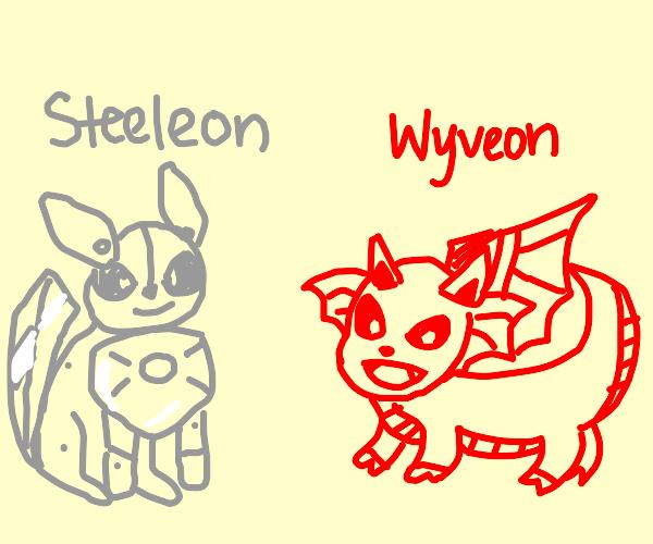 a steel eeveelution and a dragon eeveelution