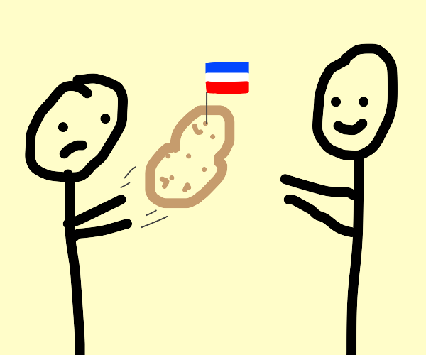 two people play French Potato