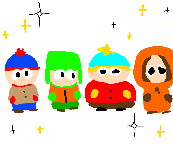 South Park Characters in Line