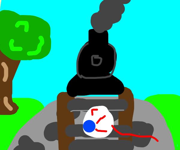 eye ball on rail road