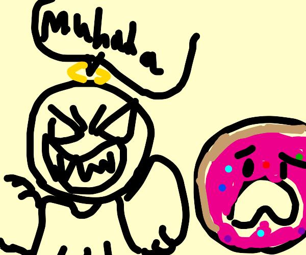 angel muhahaha at donut